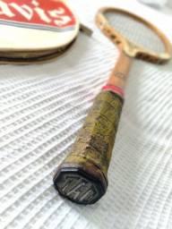 Raquete antiguidade Davis Raquete Tênis antiga