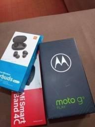 Troco Moto G9 Play novo+ Pulseira Mi Band 4C+Earbuds Xaomi por iPhone 7 ou iPhone 6s