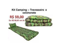 Kit Camping - travesseiro e colchonete