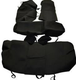 Capa de banco preta tecido bom