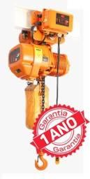 Talha Elétrica Corrente - 01 Ton - Com Trolley Elétrico - Guincho Elevação