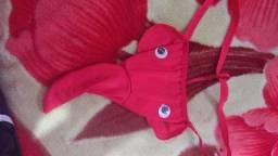 Cueca tanga vermelha elefante