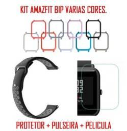 Kit Amazfit Bip Pulseira + Protetor + Pelicula
