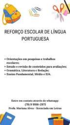 Orientações e acompanhamento de Língua Portuguesa