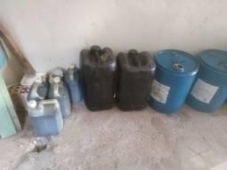 110 litros de óleo queimado