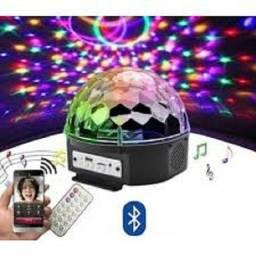 Globo Magico Bluetooth Rgb Pen Drive Controle Remoto Usb Mp3