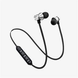 Fone De Ouvido Magnético Com Bluetooth Estéreo Esportivo Com Microfone Hd Sem Fio