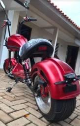 Scooter patinete moto elétrica modelo Chopper 3000w bateria 23a removível. Para adultos.