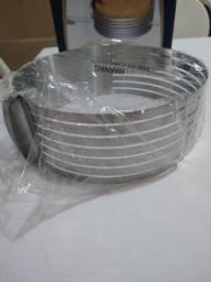 Aro cortador de bolo ajustável (23-30cm) de aço inoxidável