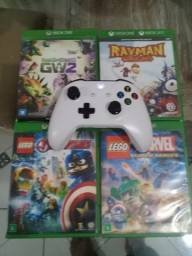 4 jogos + controle de Xbox one