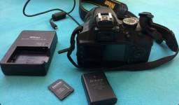 Nikon d3200 e lente 35mm