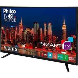 Smartv phico 49 polegadas, produto zero
