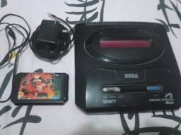 Mega Drive 2 Japonês raro chaveado + Streets Of Rage 3
