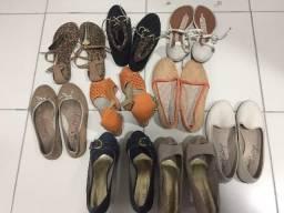 Lote com 9 sapatilhas/sandálias/salto alto (Muito conservados) Numeração 39 // Act Cartão