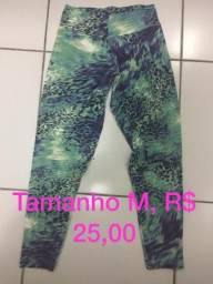 Calças fitness, TAM P e M. R$ 25,00