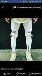 Calça jeans destroyed masculina skynner