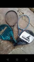 Nadadeira mares e raquete de tênis Wilson e kennex