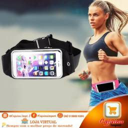 Bolsa Corrida Fitness fixa na Cintura Porta Celular e Objetos