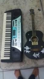 Troco teclado e violão por celular pode c trincado ps3 mandem propostas