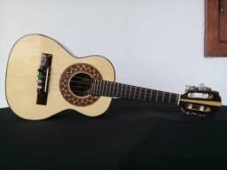 Cavaco - Cavaquinho Lucenir Luthier de Mogno com Tampo em Pinho e Captador Shadow