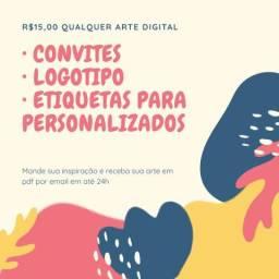 Arte digital para convites e afins