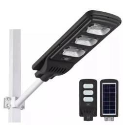 Título do anúncio: Luminária Poste Solar Led 120w Completa Com Controle - Mega Infotech