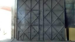 Portão de Ferro Garagem corrediço todo na chapa de Ferro 599 confira *