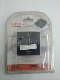 Seletor HDMI (NOVO c/ Garantia)