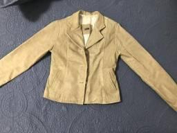 Jaqueta de couro legitimo P
