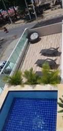 Apto de 01Qt na beira prédio com piscina