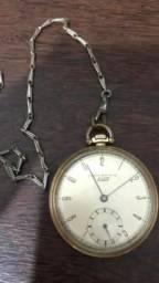 Relógio de bolso suíço folheado