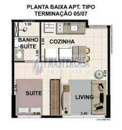 Apartamento tipo flat no espinheiro com 37m² pronto para morar