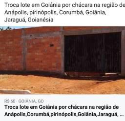 Troca lote em Goiânia, por chácara