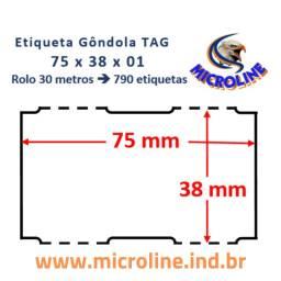 Etiqueta Gondola papel cartão TAG (Caixa 6 rolos)