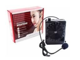Caixa de Som Mp3 Rádio com Micrfone Megaphone Amplicador de Voz