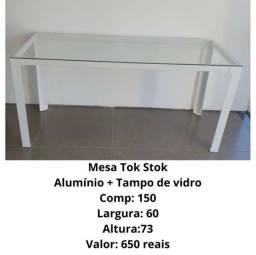 Mesa de vidro talk tok Stock