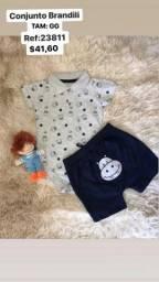 Conjuntos Brandili Baby Cinza