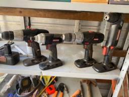 Conjunto parafusadora/furadeira craftsman importado
