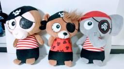 3 Ursos de pelúcia Pirata por 70,00