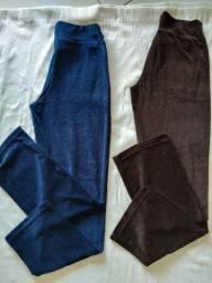 Calças de plush Petenatti, tamanho G Novas R$ 70,00 uma ou duas por R$ 100,00