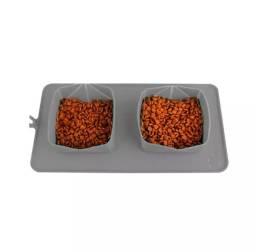 Alimentador Duplo para Cães e Gatos