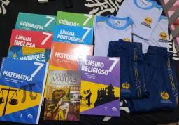 Livros e uniformes colégio Adventista