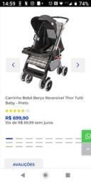 Carrinho de bebê Thor Tutti preto