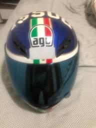 Capacete agv Rossi 46 azul
