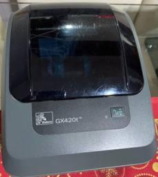 Zebra  GX42-100410-000 - Impressora de Etiquetas de Código de Barras Mesa