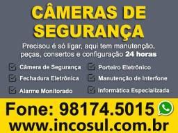 Câmeras de Segurança e Alarmes