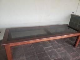 Mesa de Madeira e Vidro 3m x 1m