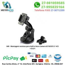 649 - Promoção - Montagem ventosa para GoPro Hero Camera 8/7/6/5/5 S / 4/3 +/3/2/1<br><br>