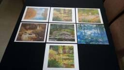 Gravuras francesas de pinturas para emoldurar