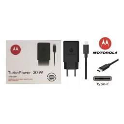 Carregador Turbo Motorola One Z3 Play Plus Tipo C para todos o celulares